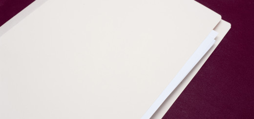 Blank white closed folder with copyspace for your header or text